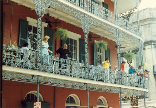 New Orleans 1988 -- balcony in the French Quarter