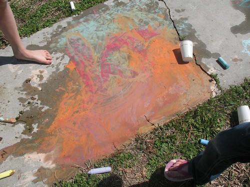 chalk + water