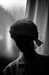 018 (Blacknoise) Tags: urban film home mannequin window silhouette 35mm diy sheffield curtain delta olympus xa2 400 push analogue xa process developed hc ilford pushprocess ilforddelta ilfotec headscalf