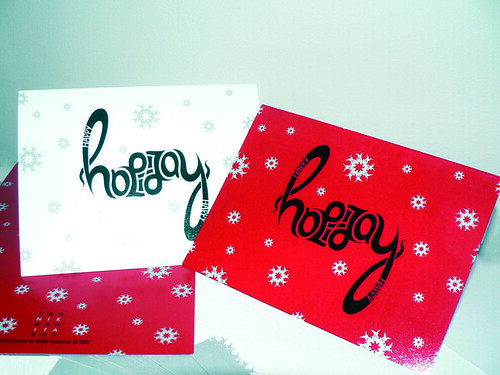 Ambigram Holiday Card