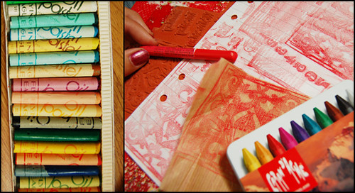 Irrisistable Wax Rubbings with crayons