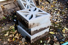 """decorative"" cinder block (robertolsenart) Tags: stilllife art decorative stack cinderblock"