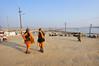 Socializing (Leonid Plotkin) Tags: india man festival asia traditional religion ritual tradition hindu hinduism mela sangam allahabad pryag maghmela