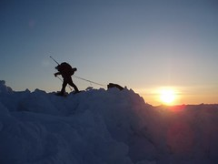 Silhouette (Weber Arctic Expeditions) Tags: expedition polar weber pressureridge northpole arcticocean resupply airdrop packice richardweber adrianhayes polartraining polarkit tessum polarequipment iainmorpeth