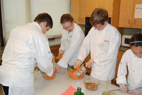 "With ""grate"" skill, Bellingham, MA team transforms yams into Tasty Tots as part of Recipes for Healthy Kids competition."