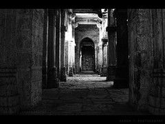 Explored !!!! (HaRsH- beyond the lens On || OFF) Tags: old india dark evening flickr alone fort path images days walls blacknwhite gujarat corridors junagadh explored uparkot harshphotography