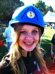 hayley (betty zombie) Tags: sun love weird braces blueeyes helmet tent odd blonde chin rockwall blushed hayleyfuckinghungerford
