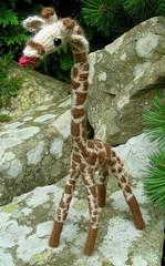 Giraffe Standing (Wibit) Tags: cute toy toys hand handmade crochet plush made softie cuddly plushie giraffe amigurumi softy