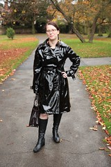 Previously not uploaded (traveller-28) Tags: autumn cute fashion matrix shiny boots vinyl trenchcoat linda newlook raincoat pvc