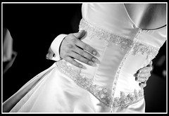 First Dance (fensterbme) Tags: blackandwhite bw woman bride couple weddingdress firstdance 30d fensterbme fenstermacherphotography columbusweddingphotographer jannaandjoey weddingphotogrpahy columbusweddings withshutterthink