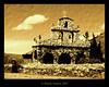 Stone Church and the Grandfather (*atrium09) Tags: old travel man textura stone sepia venezuela iglesia olympus textures merida churche 10faves atrium09 mywinners rubenseabra