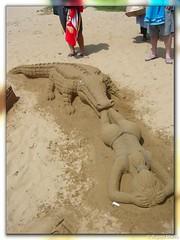 "Sand ""Castles"" - Amanzimtoti (hannes.steyn) Tags: africa art beach sand bikini thong bums sandart crocodiles amanzimtoti hannessteyn"