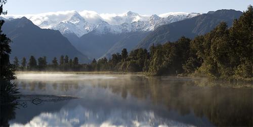 Mounts Cook & Tasman From Lake Matheson