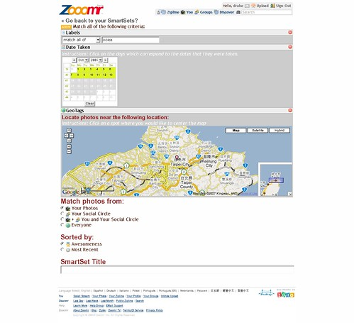 Zooomr: creating smart set