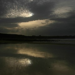 strange patterns (limerickdoyle) Tags: ocean ireland sea sky beach reflections dark sand clare spanishpoint wetsand efs1785mm westcoastofireland canon400d