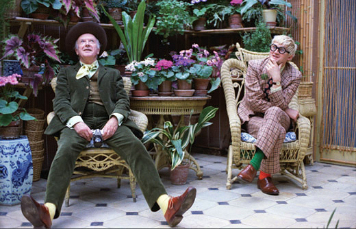 Beaton and Hockney © Peter Schlesinger