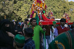 Tazia Procession (ramesh_lalwani) Tags: india delhi muslim hijab shia muharram procession niqab karbala tazia
