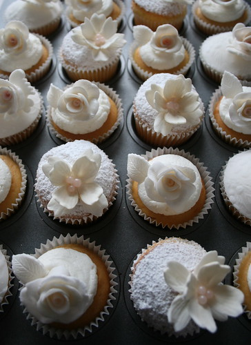 White Cupcakes for a Magazine