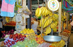 Fruit At The Centeral Market (cwgoodroe) Tags: blue food beach beer pool mexico sand surf markets palmtrees bowls zihuatanejo infinitypool fishingvillage trinkets tacostand cervesa sfchronicle intrawest zihua zhihua outdoormarket 96hrs playadelropa