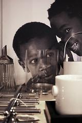 i tell you a secret (*Katch*) Tags: bw black cup shop children marseille decoration teapot items photoframe photophore sucrier sugardispenser lacasedtente hotplateholder