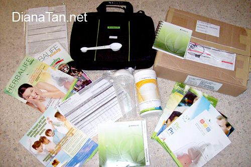 herbalife business pack with F1 nutritional shake
