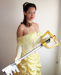 Belle presents the Keyblade (VictoriaCosplay) Tags: cosplay lola disney mickeymouse belle kh sora beautyandthebeast kingdomhearts disneyprincess yellowdress kingdomhearts2 keyblade heartless cosplaygirl victoriacosplay