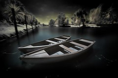 Resting (Gilad Benari) Tags: longexposure river dark ir boats israel telaviv different surreal infrared  gilad yarkon hoyar72   benari