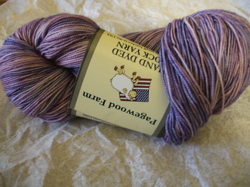 Pagewood Farms purple sock yran