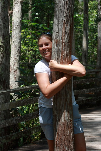 Hugging a tree is good.