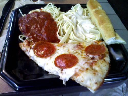Fazoli's Pizza Pasta Sampler