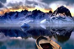 series of dreams # 1 (art & mountains) Tags: creatività immaginazione cime cresta neve riflessi barca viaggio avventura sogno dream spirit vision fantasy
