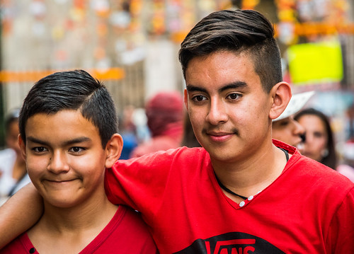 2016 - Mexico - Morelia - Brothers Pose for Mother