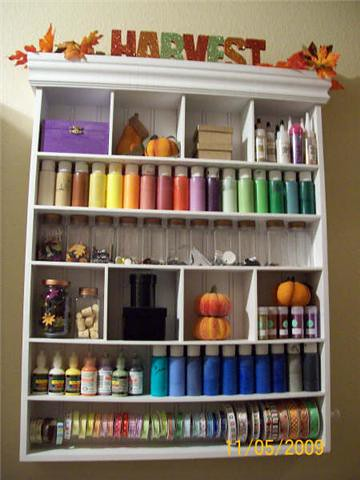 Pumpkin themed scrapbook / laundry room