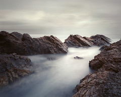 Ektar25 - report card (zane&inzane) Tags: ocean longexposure sea sky cloud seascape mamiya film beach easter lens landscape movement october rocks grain wave australia nsw 1998 expired forster 2010 burgess ektar25 ektar 65mm mamiya7 iso25 65f4