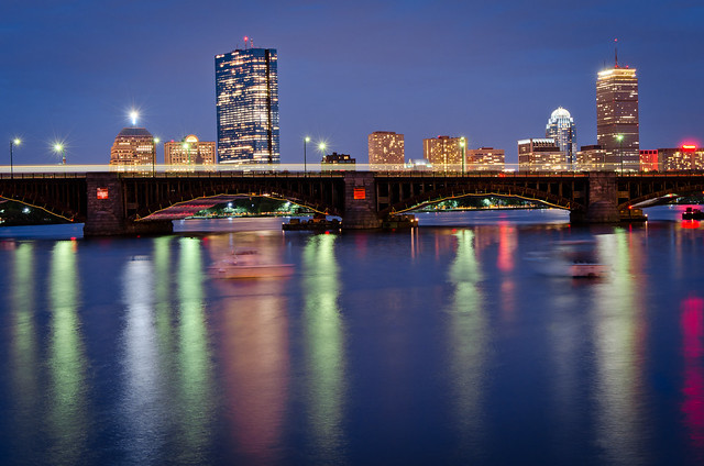 Boston, as seen from the Charles river