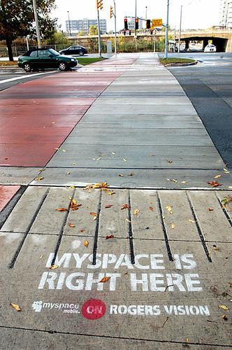 sidewalk ad creep by rogers