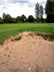 Bunkered at Carrick Knowe golf course, Edinburgh