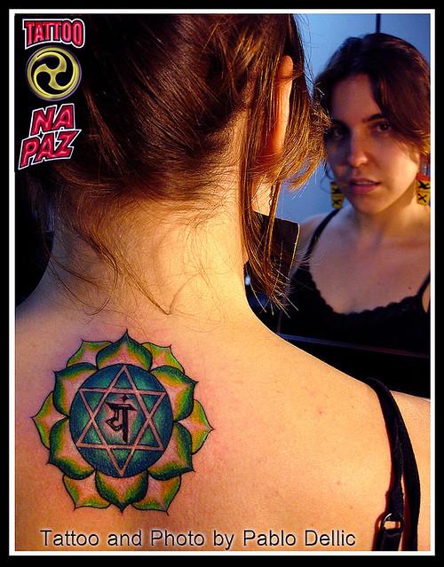 Tatuagem de Mandala , Anahata Chakra Tattoo by Pablo Dellic