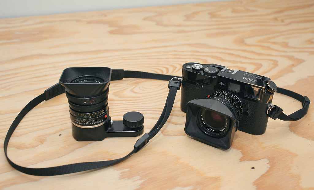 Leica M6 TTL x.58 Special Edition Black Paint Camera and Lenses