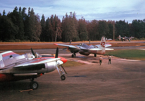 Warbird picture - F7F; Grass Valley AAB circa 1970