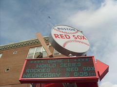 The new Boston Red Sox sign