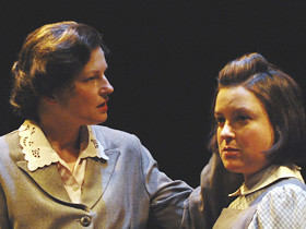 Helen Taylor and Jessica Greenberg play Marketa and Hana Brady. Photo: Andy Price.