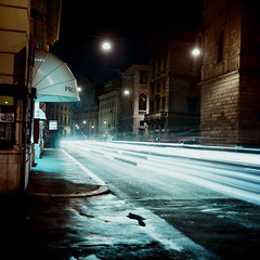 Rome (Peter Gutierrez) Tags: photo europe european italy italian italia italiano lazio rome roman roma romano quadrato urbano di sera notte della città delle vie via street streets urban city night nighttime time evening square format medium tlr twin lens reflex minolta autocord peter gutierrez petergutierrez 10faves colourartaward nocturne nocturnal nacht noche nuit sidewalk pavement public film photograph photography