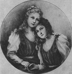 Sainte Thérèse de l'Enfant Jésus à 15 ans et sa soeur Céline