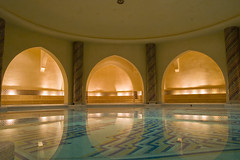 Bath Pool (David Wilmot) Tags: africa travel light holiday water pool bath arch muslim islam mosque morocco casablanca kinghassan2