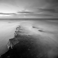 Kilve Pavements IX (Adam Clutterbuck) Tags: ocean uk longexposure greatbritain sea england blackandwhite bw seascape beach monochrome square landscape mono coast blackwhite unitedkingdom britain pavement somerset bn severn coastal shore elements gb limestone blogged bandw sq oe pavements greengage kilve adamclutterbuck sqbw bwsq showinrecentset openedition