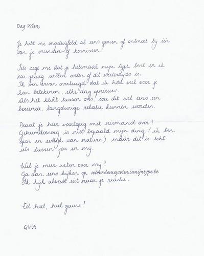 Liefdesbrief Gazet Van Antwerpen