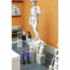 Plaster-cast copy of Michelangelo's David.