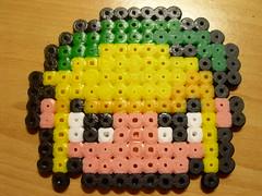 LINK en Hama beads (Garumiru) Tags: zelda llaveros hamabeads