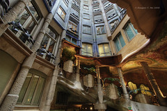 Courtyard at La Pedrera (Doug Mo (Gone Vagabonding)) Tags: barcelona travel architecture buildings spain catalonia unescoworldheritagesite unesco gaudi handheld hdr photoshopcs2 casamila pedrera casamil 2007 lapedrera barcelons antonigaudi canonefs1022mmf3545usm eixample passeigdegrcia unescoworldheritagesites photomatixpro handheldhdr dougmo shadowcaster57 worksofantongaudi